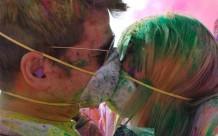 Holi Kiss Thru Masks