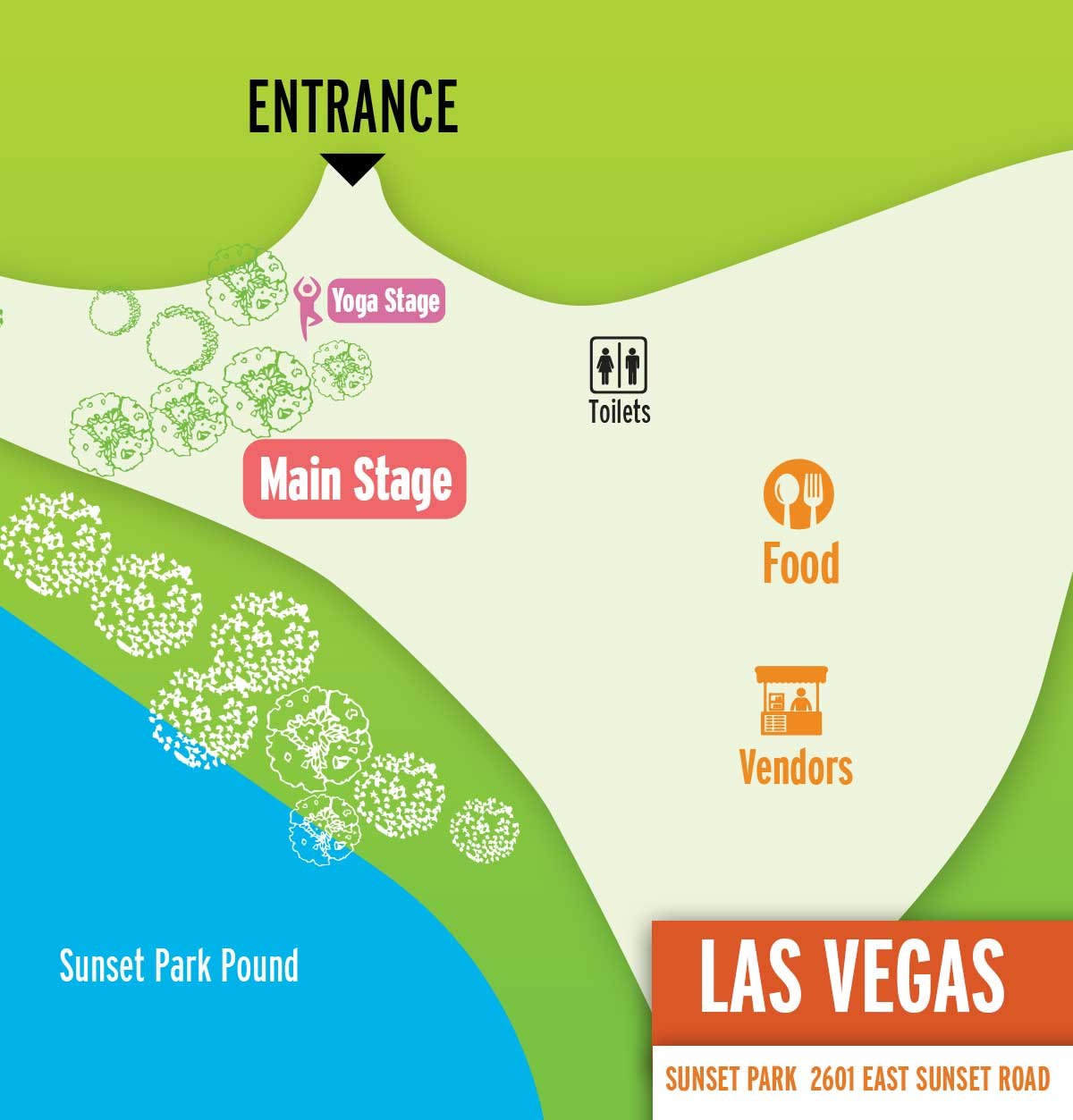 Las Vegas Festival Map