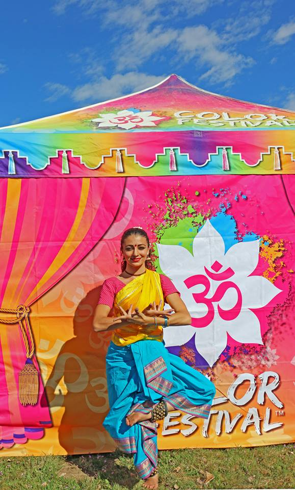 Malini in Freont Of Color Sign